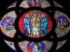 Glasfenster Hl. Kreuz Kirche Burgstall