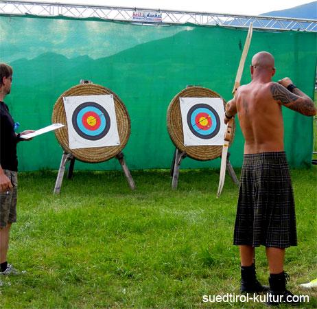 Bogenschießen bei den Highland Games