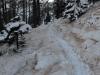 verschneiter Weg zur Laugenalm